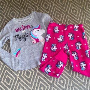 Cute Girls Unicorn Pajamas Set 💜🦄
